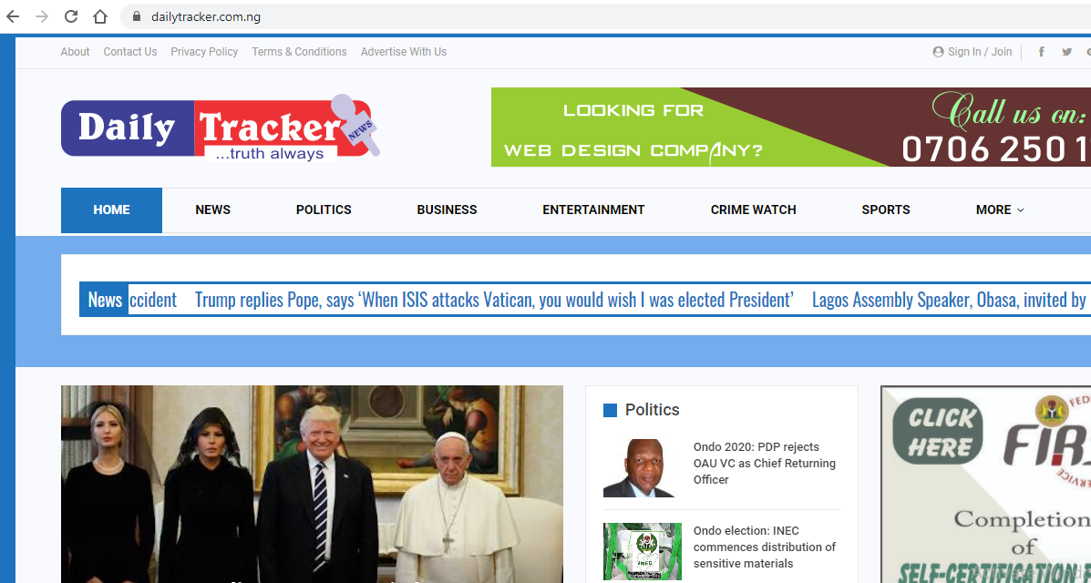 Daily Tracker News Website